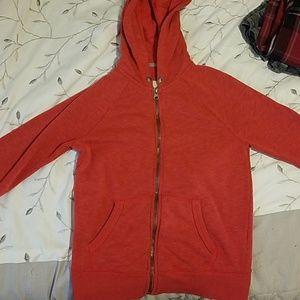 Red Cherokee zip up hoodie